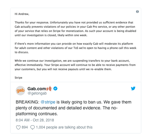 Pittsburgh shooting: Gab suspension