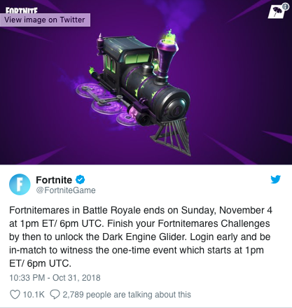 Fortnitemares News: Comes To An End