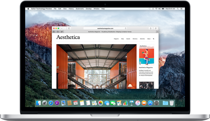 Safari Technology Preview: MacBook Pro